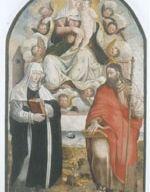 Madonna di Loreto e Santi, Simone De Magistris, tavola