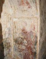Particolare dei frammenti degli affreschi interni