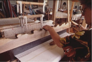Tessitrice al telaio