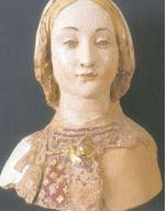 Testa della Vergine (sec.XV), scultura in terracotta policroma